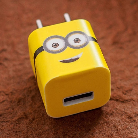 Minions iPhone Charger Stickers