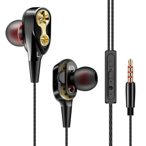 Tebaurry Double Unit Drive In-Ear Earphone