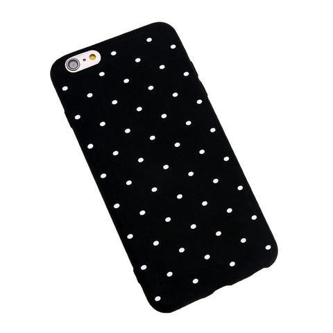Phone Cover Slim TPU Case Frosted Dot Pattern Soft Protector Shell for iPhone 7