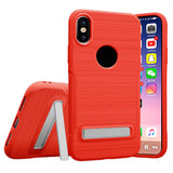 TPU Mobile Phone Shell Protector Protective Case Phone Stand For iPhone [X]