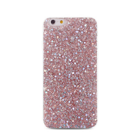 Phone Cover Slim TPU Case Glitter Powder Sequin Soft Protector Shell for iPhone 8 / 7