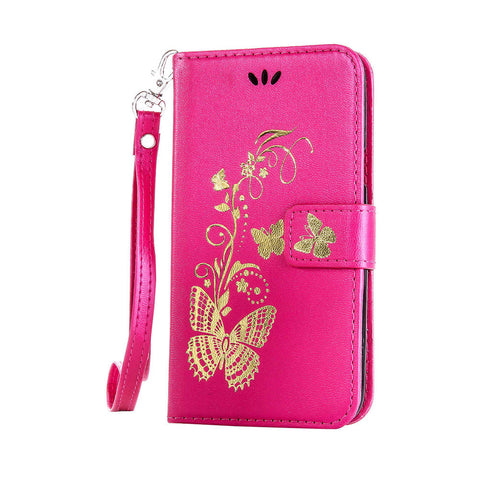 Gilding Butterfly Leather Phone Case Soft iPhone 6s