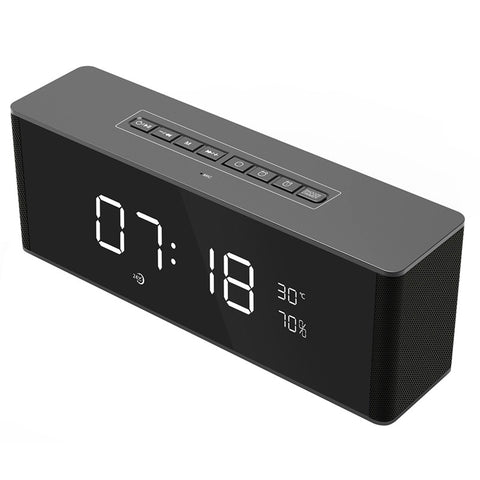 Multifunctional Digital Alarm Clock Radio with Wireless Bluetooth Stereo Speaker