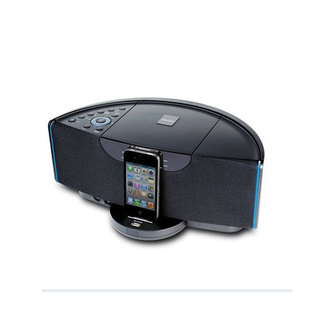 Velour NE-332 Desktop Hi-Fi Audio Speaker with Video-out /FM Radio /Alarm /3.5mm Audio-in for iPad /iPhone /iPod (Black)