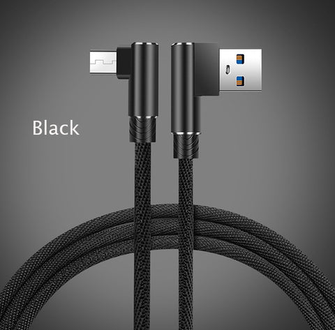 Suntaiho Micro USB Cable 90 Degree USB Cable 1m 2m 3m for Samsung S7 S6 2.4A Fast Charging for Huawei  for Xiaomi Tablet Cables