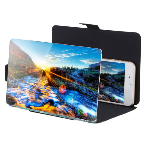 "3D Enlarge HD 8.2"" 3X Screen Movie Magnifier Folding Amplifier Stand For Phones"