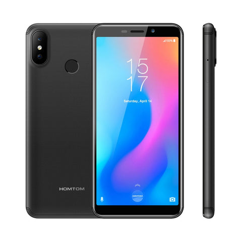 HOMTOM C2 18:9 Bezel-less Face ID Smartphone 5.5inch 2GB 16GB Android 8.1 13MP Dual Rear Cameras OTA OTG 4G-LTE Mobile Cell Phones