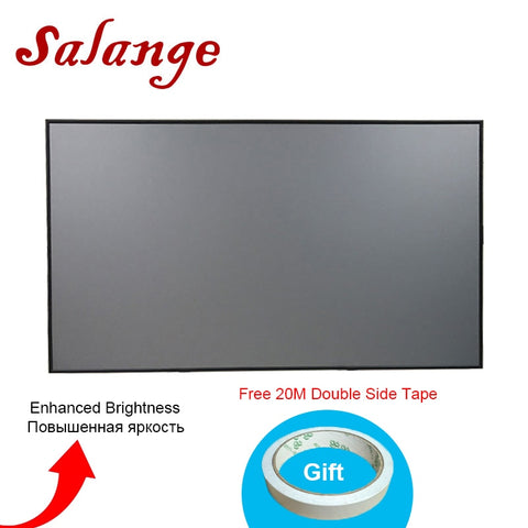 Salange Projector Screen Reflective Fabric Cloth 72 84 100 120 inch 16:9 4:3 For XGIMI H2 UC68 UC40 YG300 YG400 JMGO Projector