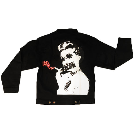 "DKS ""X Luv"" Black Denim Jacket"