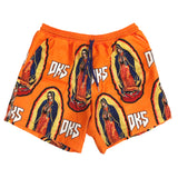 "DKS ""Blessed"" Orange Lounge Shorts"