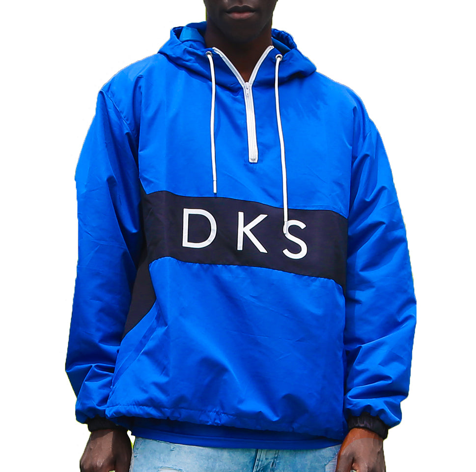"DKS ""Blú"" Hooded Quarter Zip Windbreaker"
