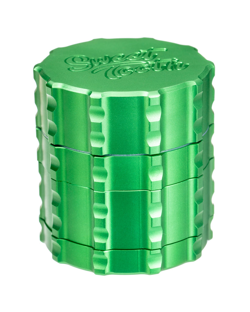 Green 4-Piece Small Diametric Teeth Aluminum Grinder