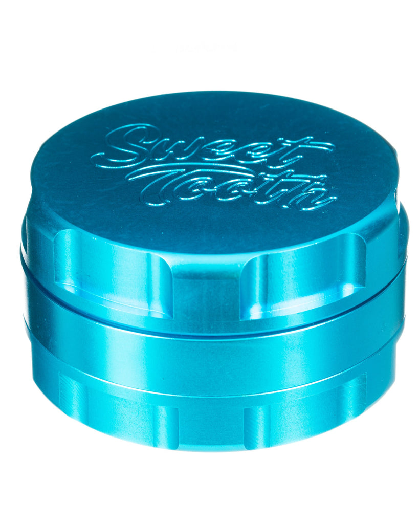 Teal 3-Piece Large Radial Teeth Aluminum Grinder