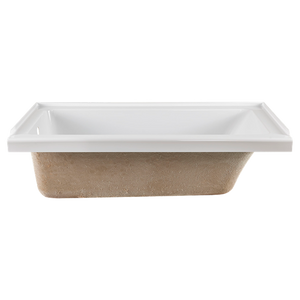 Studio 60x30-inch Bathtub with Fold Over Edge - Right Drain