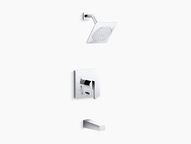 Honesty bath and shower trim set with 2.0 gpm showerhead and lever handle for Rite-Temp® pressure-balancing valve