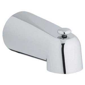 Wall mounted spout with diverter