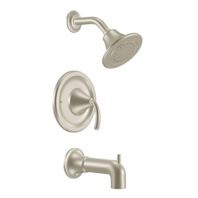 Icon Brushed nickel Posi-Temp® tub/shower