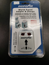 Load image into Gallery viewer, Digipower world travel Adopter & charger.