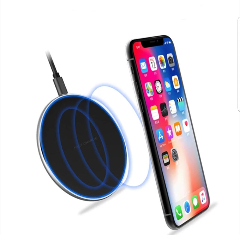 10W Qi Wireless Charger Pad LED Light Fast Charging Wireless.
