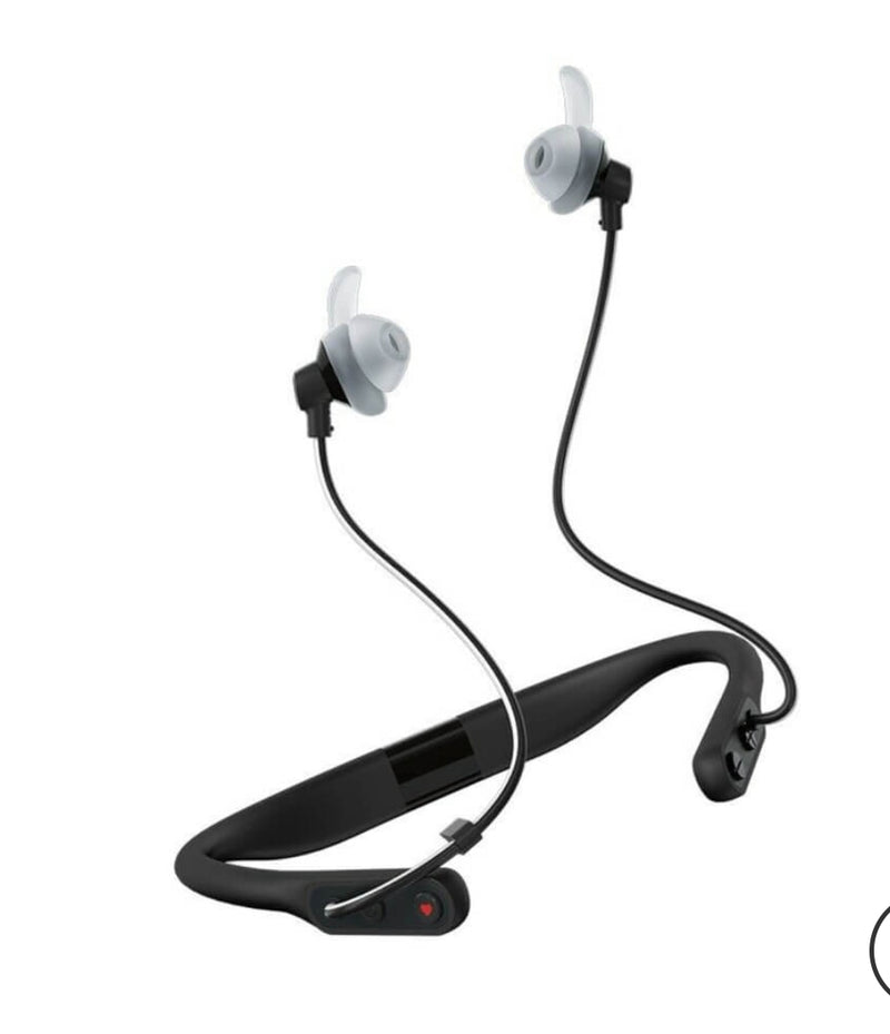 JBL Reflect Fit In-Ear Wireless Headphones with Heart-Rate Monitor BLACK