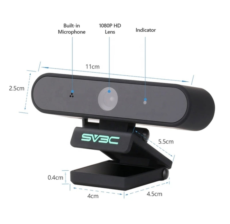 1080 P Webcam with integrated security .