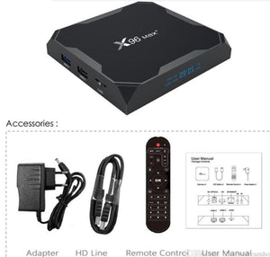 X96 MAX PLUS 4GB+32GB ANDROID BOX.