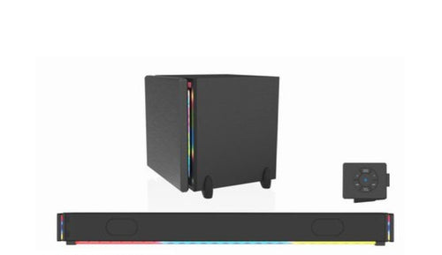 MONSTER 37 BT SOUNDBAR & SUBWOOFER WITH LED LIGHTS