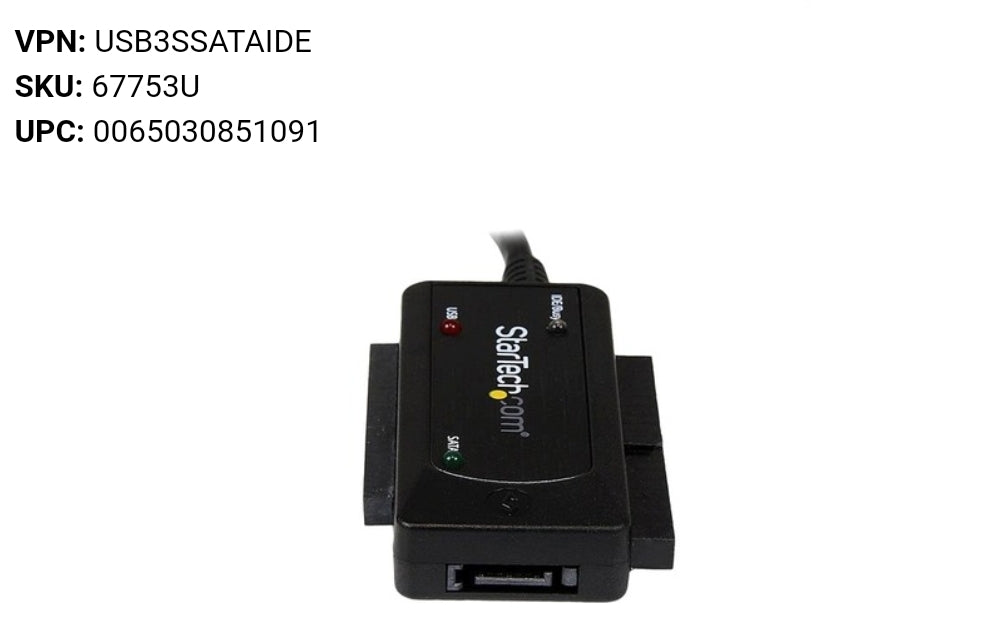 StarTech USB 3.0 to SATA IDE Adapter - 2.5in / 3.5in - External Hard