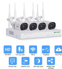Load image into Gallery viewer, 4 channels wifi security camera systems .white