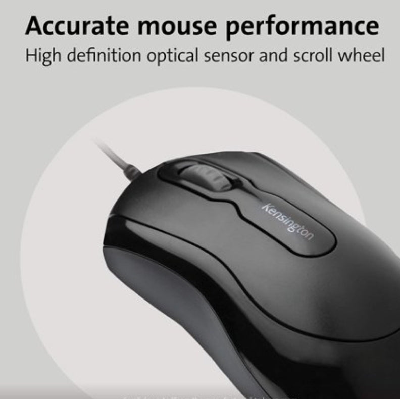 Kensington Keyboard and Mouse for Life Wired Desktop Set (K72436AM