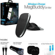 Load image into Gallery viewer, Naztech MagBuddy Wireless Charge CD Slot Mount