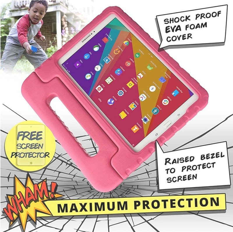 Dynamo [Rugged Kids Case] Protective Case for Samsung Tab A 10.1 (2016) pink