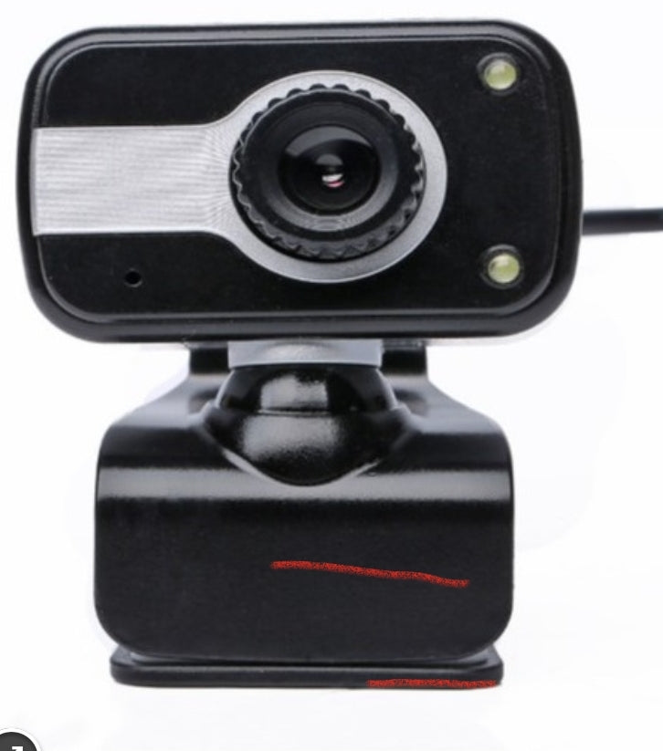 WEBCAM 480P W/MIC, LIGHTS STAND & CLIP USB PC
