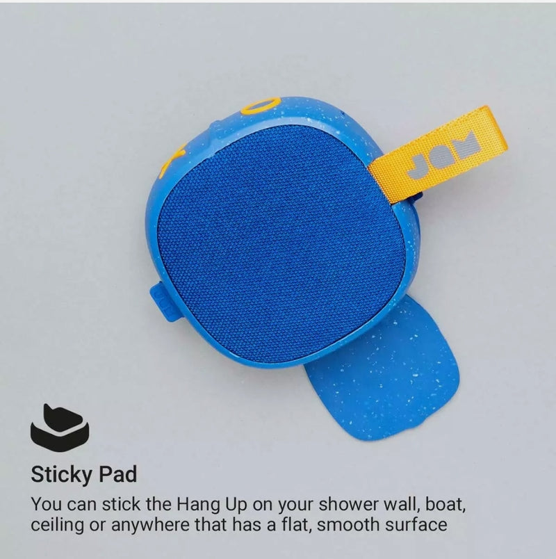 Jam Hang Up Waterproof Shower Bluetooth Wireless Speaker 8 Hour Playtime Blue