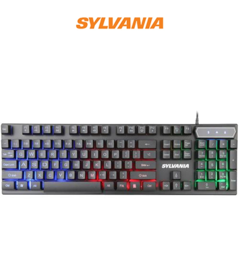 Sylvania 4-In-1 Gaming Set with Mouse, Keyboard, Headset and Mousepad (SGKS100)