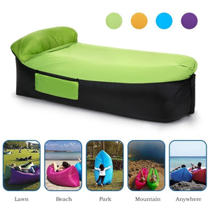 Superb Outdoor Lightweight Inflatable Lounger Portable Air Beds Sleeping Sofa Couch For Travelling Camping Bralicious Painted Fabric Chair Ideas Braliciousco