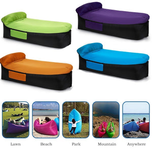 Amazing Outdoor Lightweight Inflatable Lounger Portable Air Beds Sleeping Sofa Couch For Travelling Camping Bralicious Painted Fabric Chair Ideas Braliciousco