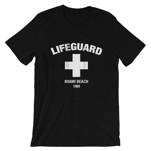 Lifeguard 1989 Heather Black Unisex T-Shirt