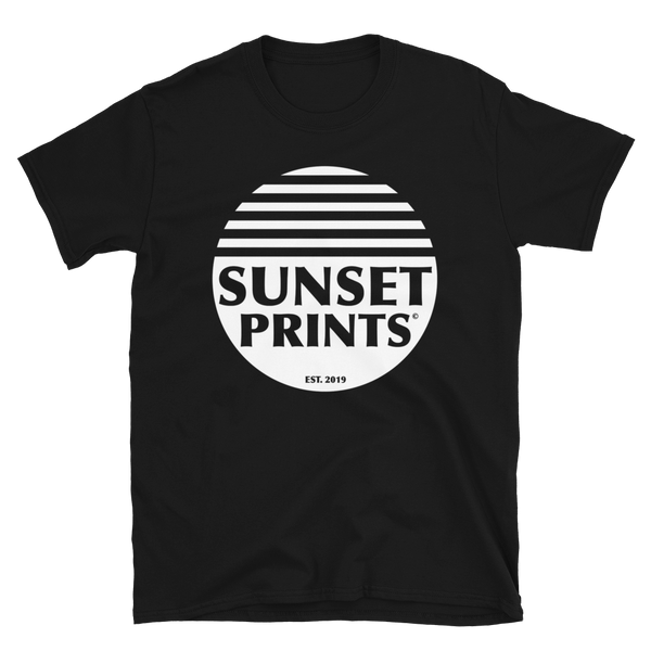 Sunset Prints Logo - Black Unisex T-Shirt