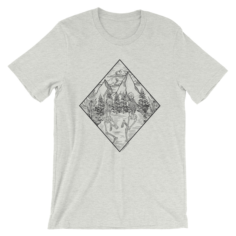 Skeleton Dance - Unisex Ash Grey T-shirt