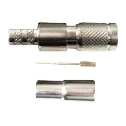 Mini Din 1.0/2.3 Crimp Plug 75 Ohm 3Ghz For RG59 Type (1570/1505A)