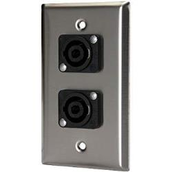 Wallplate - dual - NL2MP