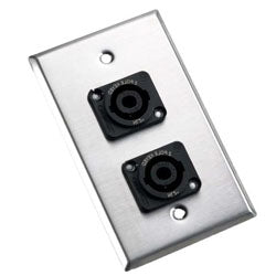 Wallplate - dual - NL4MP