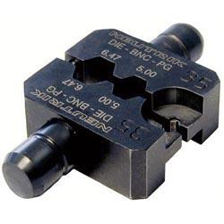 Die for HX-BNC crimp tool with Hex Crimp size: A (4.06mm) B (7.01mm) CP (1.6mm)