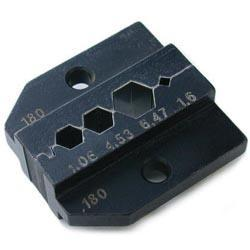 Die for HX-R-BNC crimp tool with Hex Crimp size: A (6.47mm) B (4.53mm) C (4.06mm) CP (1.6mm)
