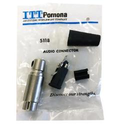 4-Pin XLR Female Cable Mount Connector ITT Pomona (Alcatel) 5118