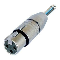 "NA2FP Audio Adapter XLR Female to 1/4"" Mono Plug"
