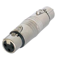 NA3FF Audio Gender Adapter XLR 3-Pin Female to Female