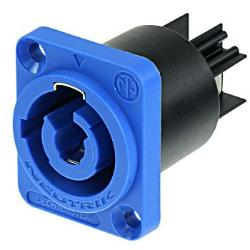 Neutrik powerCON NAC3MPA-1 Power-In Blue Chassis Connector