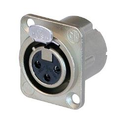 Neutrik NC3FD-LX 3-Pin XLR Female Receptacle Nickel Housing Silver Contacts